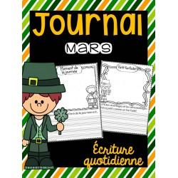 Journal de mars-Saint-Patrick|Écriture quotidienne