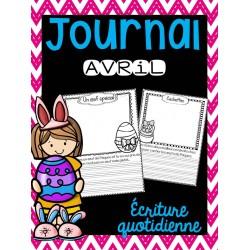 Journal d'avril - Écriture quotidienne