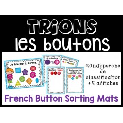 Trions les boutons - Napperons de classification
