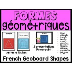 Formes  géométriques avec géoplan