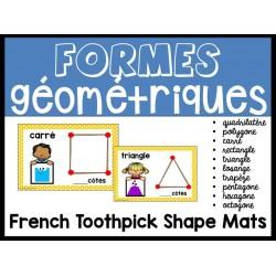 Formes géométriques avec cure-dents