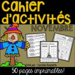 Cahier d'activités - Novembre