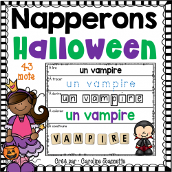 Napperons de l'Halloween - Mots de vocabulaire