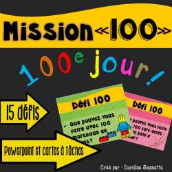 Défis du 100e jour - Powerpoint et cartes à tâches