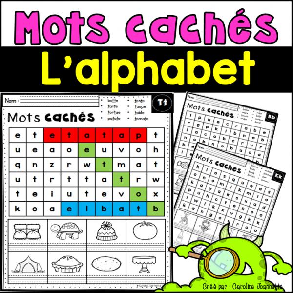 Mots cachés de l'alphabet