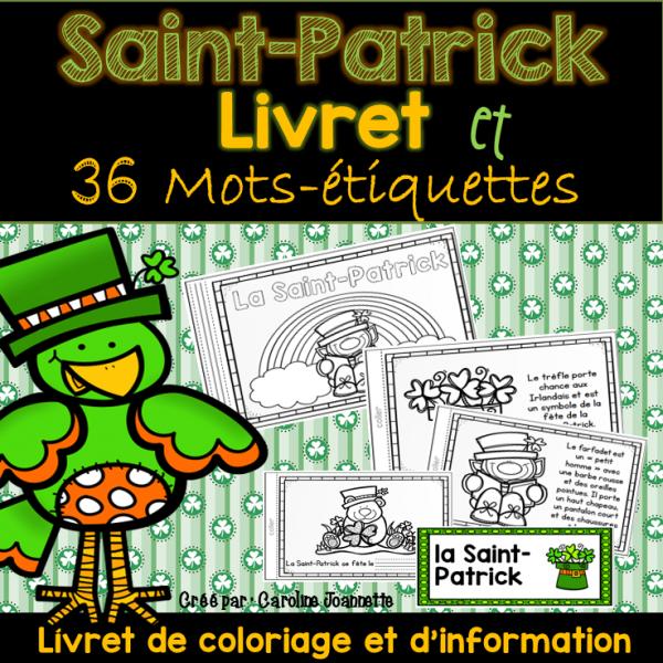 Livret de la Saint-Patrick et mots-étiquettes