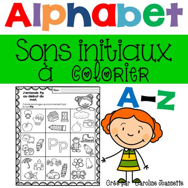 Colorie le son initial -Alphabet