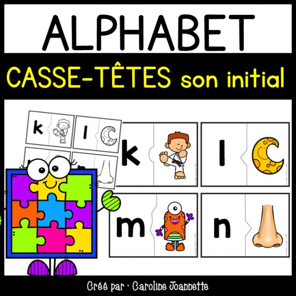 Casse-têtes de l'alphabet - 2 morceaux