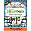 Halloween Mots de vocabulaire