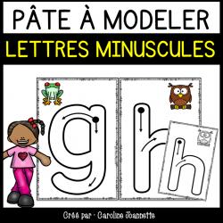 Cartes de pâte à modeler - l'alphabet minuscule