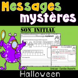 Messages mystères de l'Halloween - Son des lettres