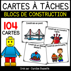 Blocs de construction - Cartes à tâches