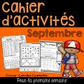Cahier d'activités de la rentrée - Septembre