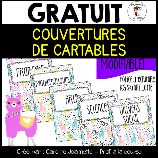 Couvertures de cartables - Lamas