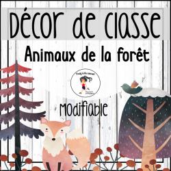 Ensemble Décor de classe - Animaux de la forêt