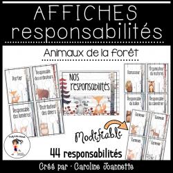 Responsabilités MODIFIABLES- Animaux de la forêt