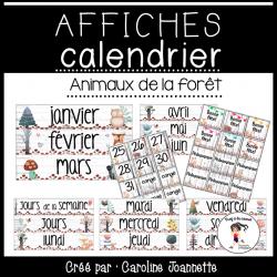 Affiches pour le calendrier - Animaux de la forêt