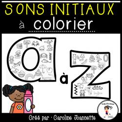 Sons initiaux à colorier A à Z