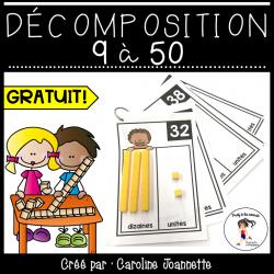 Décomposition - Nombres 9 à 50 - GRATUIT