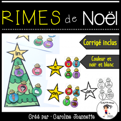 Rimes de Noël - Atelier de conscience phonologique