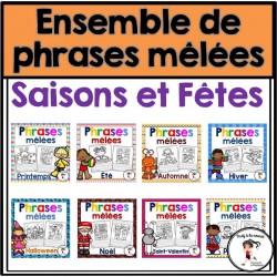 Ensemble Phrases mêlées-SAISONS et FÊTES
