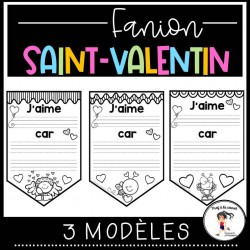 GRATUITÉ Temps limité Saint-Valentin - Fanion
