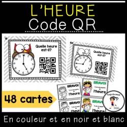 Heure - Cartes à tâches avec des codes QR
