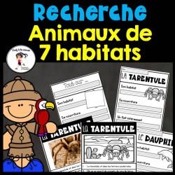 Recherche Animaux de 7 habitats
