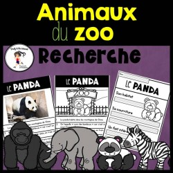 Recherche Animaux du zoo