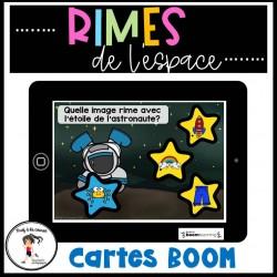 Rimes de l'espace - Cartes à tâches BOOM Learning
