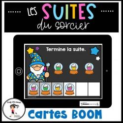 Suites/Régularités Cartes à tâches BOOM Learning