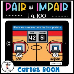 Nombres pairs et impairs CARTES BOOM Learning