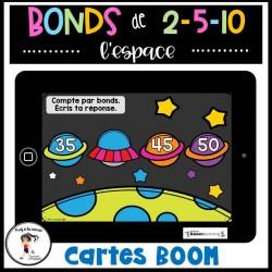 Bonds de l'espace 1 à 100 Cartes à tâches BOOM