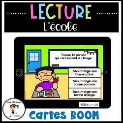 Lecture de phrases simples - École Cartes BOOM