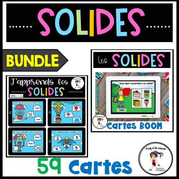 BUNDLE - Les solides Cartes BOOM Learning