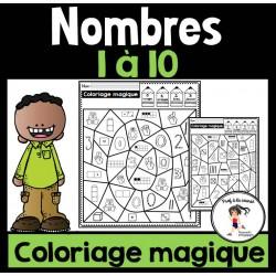 Coloriage magique Nombres 1-10
