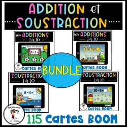 BUNDLE Addition et soustraction Cartes BOOM