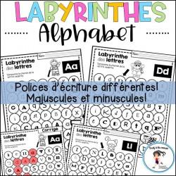 Labyrinthes de l'alphabet