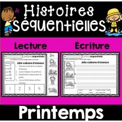 Histoires séquentielles-Lecture/écriture PRINTEMPS