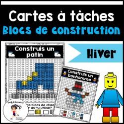 Blocs de construction - Cartes à tâches HIVER