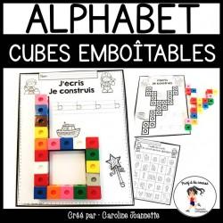 Je construis mon alphabet - Cubes emboîtables