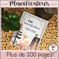 Planificateur/Agenda 2020-2021- La forêt