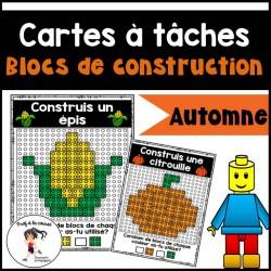 Blocs de construction - Cartes à tâches (AUTOMNE)