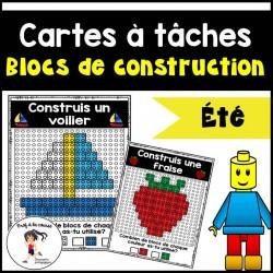 Blocs de construction - Cartes à tâches (ÉTÉ)
