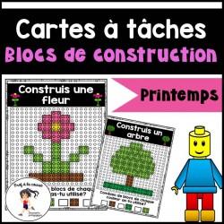 Blocs de construction-Cartes à tâches (PRINTEMPS)