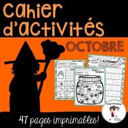 Cahier d'activités - Octobre | Halloween