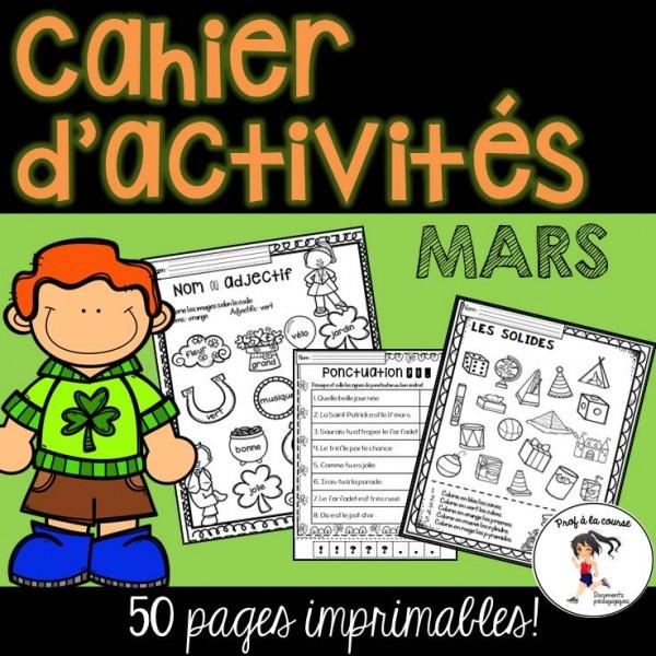 Cahier d'activités - Mars