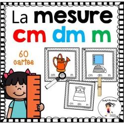 Cartes à tâches - La mesure  cm-dm-m