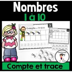Compte et trace - Nombres 1-10