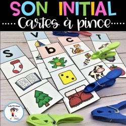 Son intial - Cartes à pince
